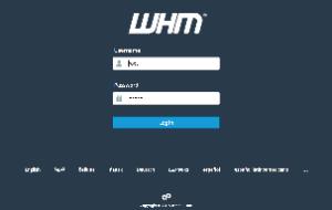 cpanel login WHM