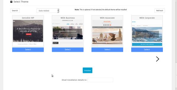 Instalação de Wordpress Softaculous - ultimo passo