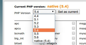 cPanel Cloudlinux PHP version